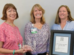 Hospital Hero Award Winners: René Van Hoorn, Donna Glenn and Kathy Schmitt