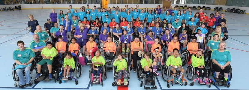 Cottage Rehabilitation Hospital - Junior Wheelchair Sports Camp Participant Group Photo