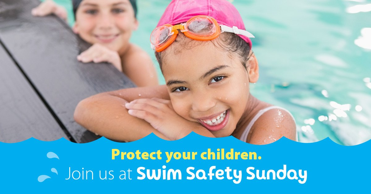 Swim Safety Sunday - Child in the pool smiling
