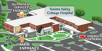 Goleta Valley Cottage Hospital Map