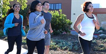Miles for Moms - 5k  - Runners in front of Goleta Valley Cottage Hospital